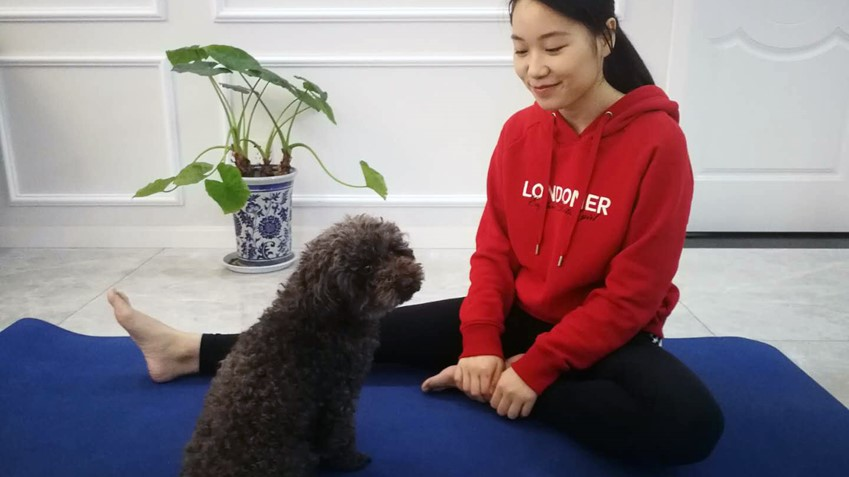 "Exercise has been an important part of Song Ziwei's daily routine while in quarantine. ""Yoga has helped both my body and mind relax,"" she says."