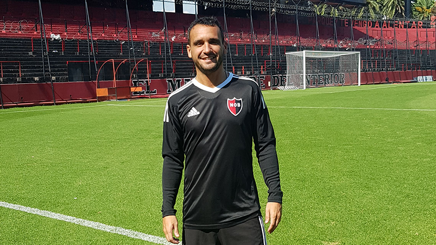 Martin Spino at Estadio Marcelo Bielsa, home of Club Atlético Newell's Old Boys